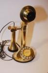 Telefono da Tavolo in Ottone Massiccio